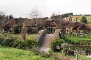 hobbit garden in Hobbiton